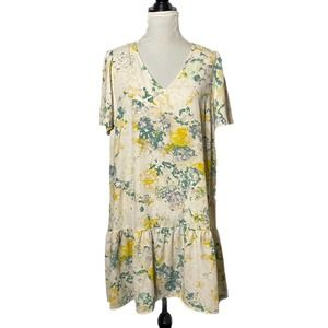 A New Day Floral Print Swing Dress Size Large